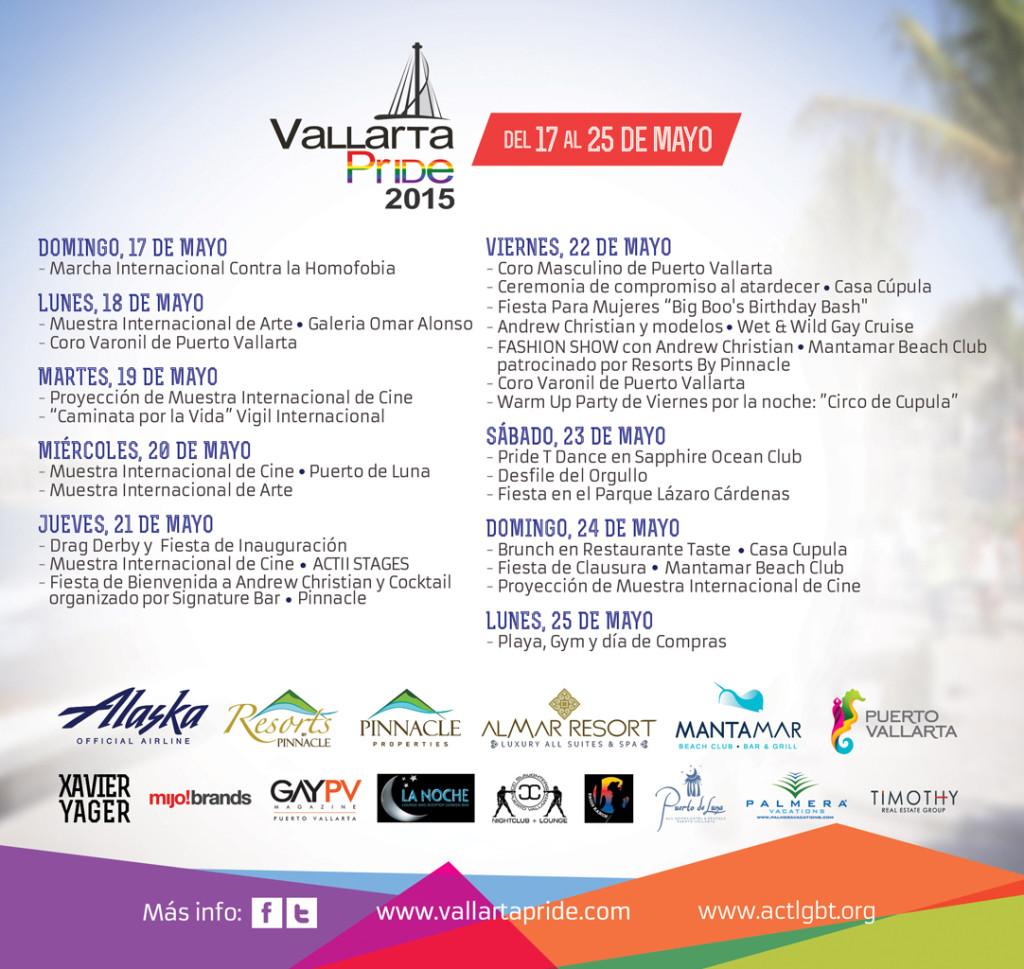Calendario de Eventos Vallarta Pride 2015